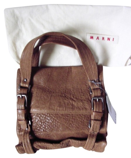 Marni Leather Tote in brown