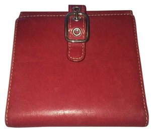 Coach Red coach buckle wallet