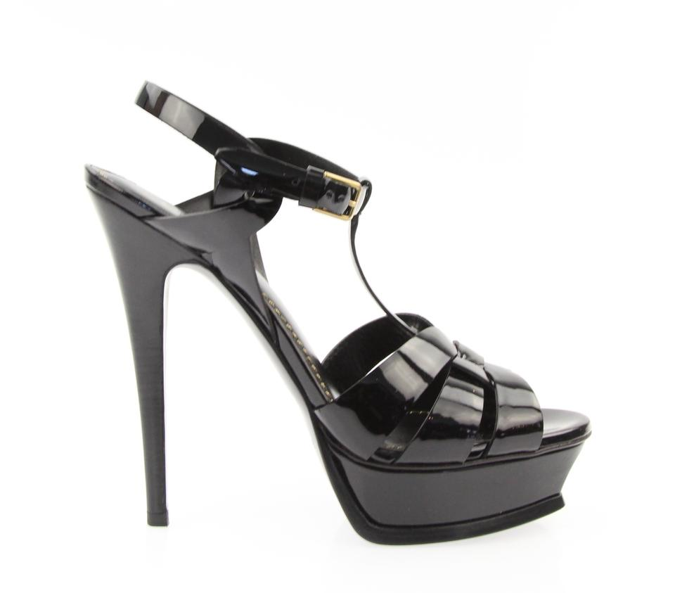 Saint Sandals Laurent Black Tribute Platform Sandals Saint 6e41d4