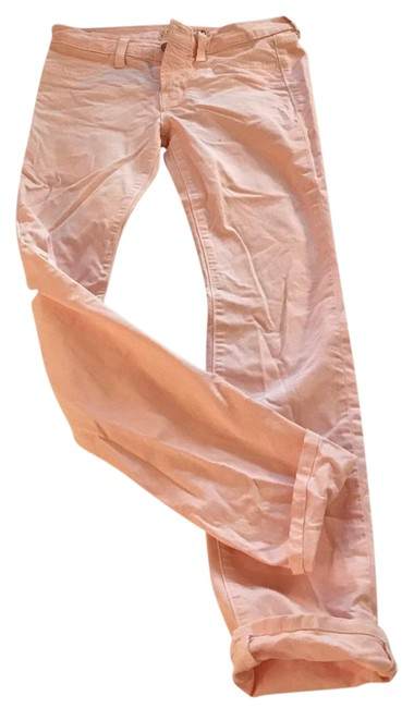 Item - Pink Light Wash Skinny Jeans Size 24 (0, XS)
