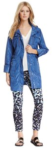 Via Spiga Blue Water Repellant Size Small Periwinkle Jacket