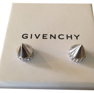 Givenchy GIVENCHY AUTHENTIC CRYSTAL EMBELLISHED DOUBLE CONE SHARK EARRINGS