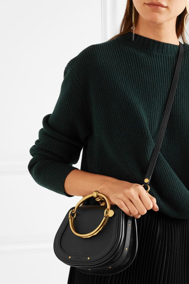 8fdf4eb7a0 Chloé Nile Small Bracelet And Black Leather/Suede Cross Body Bag