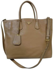 Prada Leather Saffiano Cuir Double Cross Body Bag