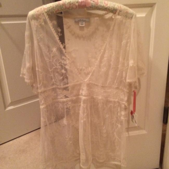 Other Romantic Lace Sheer Top cream