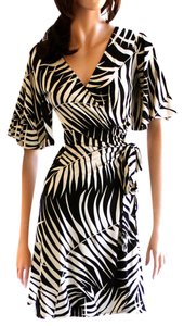 FLORA KUNG Monochrome Silk Jersey Dress