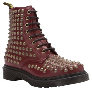 Dr. Martens Cherry Spikes Red Boots