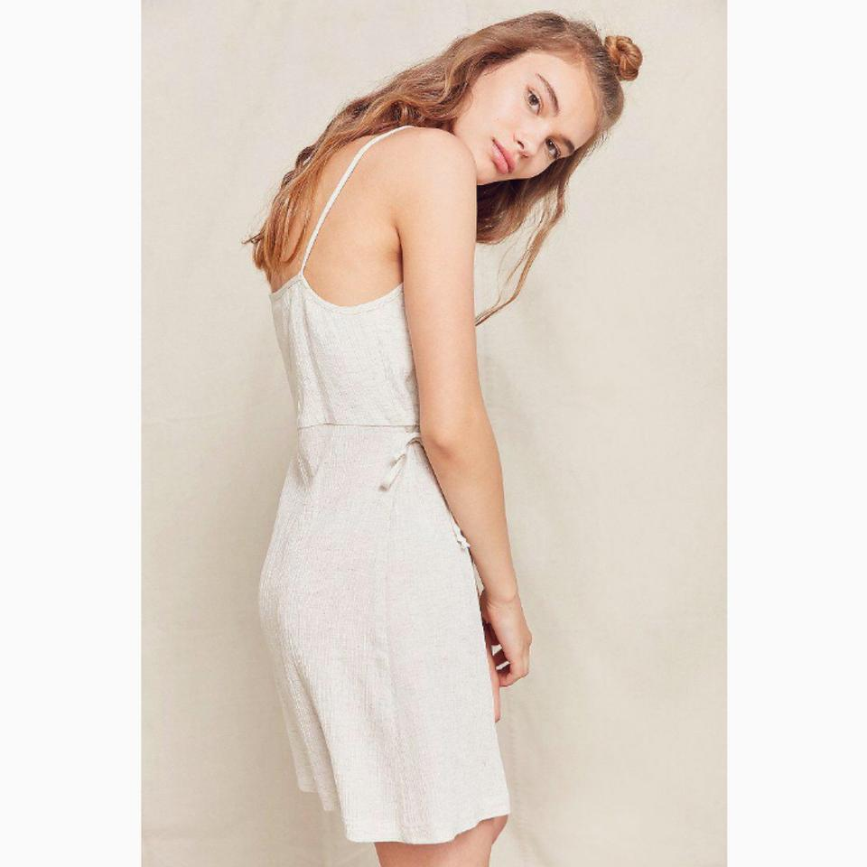 fa150264218 Urban Outfitters Cream Gauzy Short Casual Maxi Dress Size 2 (XS ...