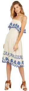 Cleobella short dress White Zara Embroidered Slip Boho on Tradesy