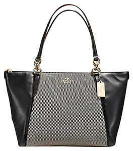 Coach Satchel Leather Satchel Ava 58318 Tote in GOLD/MILK