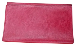 hermes Hermes Red Leather Planner Agenda