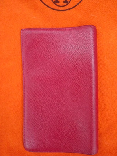 Hermès Hermes Red Leather Planner Agenda