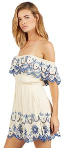 Cleobella short dress White Zara Embroidered Off The Shoulder Boho on Tradesy