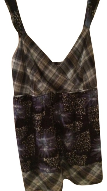 Calvin Klein Attractive Straps Gathered In The Back. Top blue, white, plaid, floral