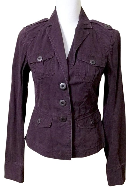Item - Purple Small Plum Blazer Cotton Jacket Size 4 (S)
