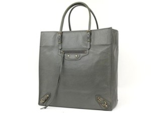 Balenciaga City Moto First Twiggy Giant Tote in Gray