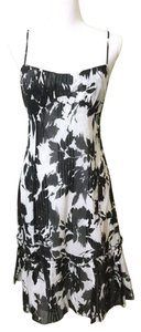 Ann Taylor LOFT short dress Black/White Floral Sundress Sleeveless on Tradesy