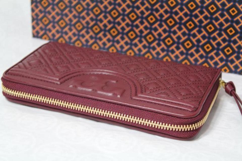 a9dafe3cd7c Tory Burch NEW!!! Tags Fleming Quilted Leather Zip Around Continental Wallet  Bag Image. 123456789101112