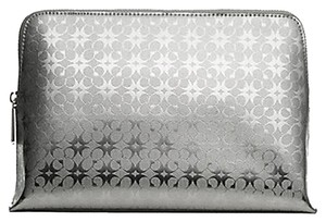 Coach NWT Coach Waverly Cosmetic Case in Silver