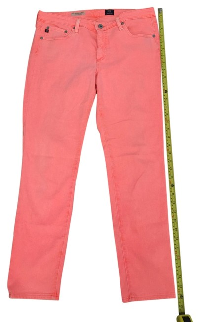 Item - Pink Hot Pink Hot Coral Medium Wash Stevie Ankle Ctl 1377-nog Straight Leg Jeans Size 30 (6, M)