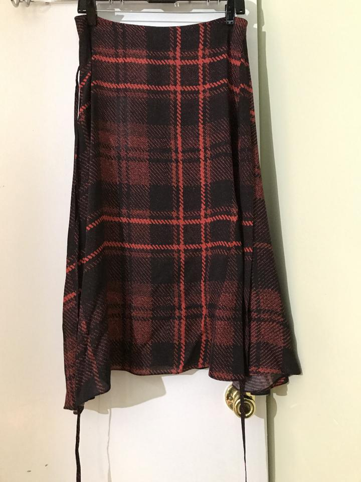 f20ef1263 MCQ by Alexander McQueen Black Tied Tartan Plaid Skirt Size 4 (S, 27 ...
