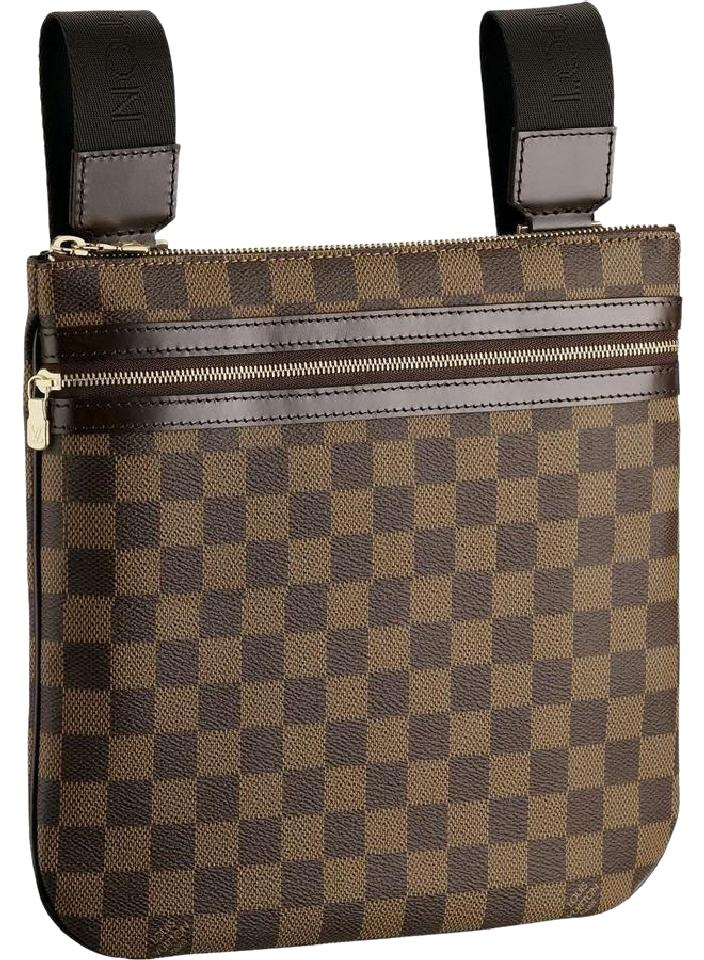 34afddd314 Louis Vuitton Pochette No Longer Made Bosphere Damier Ebene Canvas ...