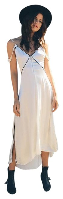 Item - White Only 2 Left Dita Zip Slip Long Night Out Dress Size 4 (S)