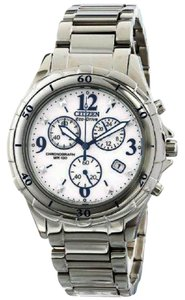 Citizen FB1350-58A Women's Silver Steel Bracelet With White Analog Dial
