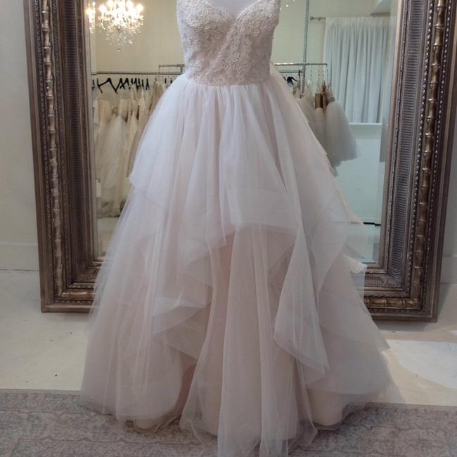 Item - Ivory/Rum Pink/Cashmere Lace and Tulle 9551 Traditional Wedding Dress Size 8 (M)