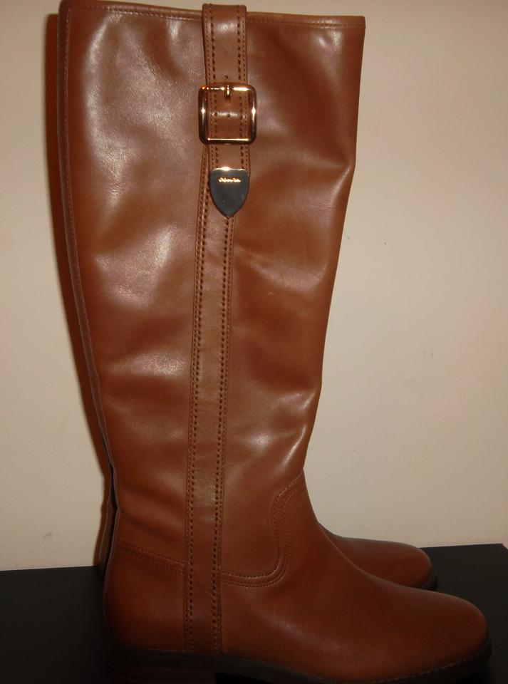 4776340d0a1 Coach Brown Easton Riding Boots Booties Size US 7 Regular (M