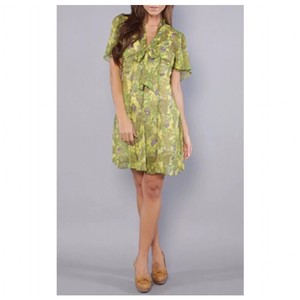 BB Dakota short dress Yellow/Green on Tradesy