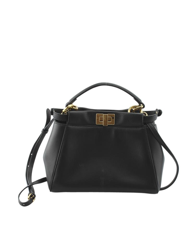 556bb023a4 Fendi 8bn244 Mini Peekaboo (133960) Black Leather Tote - Tradesy