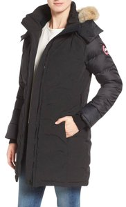 Canada Goose Two-way Zip Duck Down Insulation Removable Hood Removable Belt Front Pockets Fur Coat