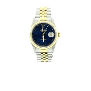 Rolex Rolex Datejust 16233 18K Yellow Gold & Stainless Steel Blue Stick Dial