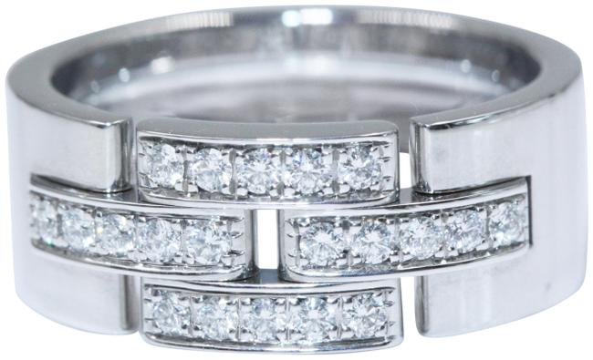 Item - White Gold And Diamonds Maillon Panthere Ring