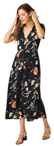 Black and Red Floral Maxi Dress by Christy Dawn Maxi