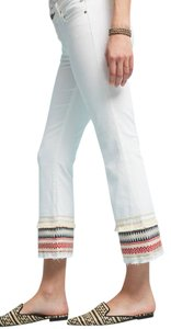 McGuire Embroidered 7 For All Mankind Capri/Cropped Denim-Light Wash