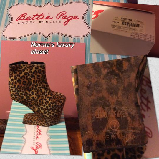 Betty Page Shoes by Ellie Box Included Magic Leopard Platforms