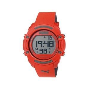 Puma PU911221004 Sports Men's Red Silicone Bracelet With Grey Dial