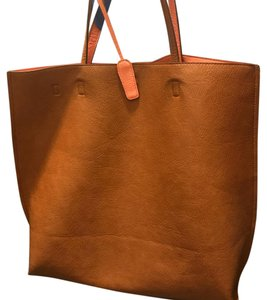 7084dc2249a19 Urban Outfitters Oversized Brown Vegan Leather Tote - Tradesy