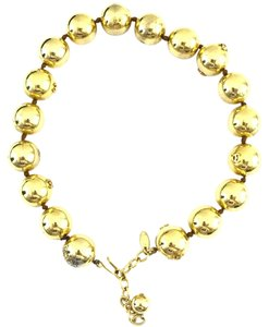 Chanel #13848 Rare CC Bead gold Ball chain Choker necklace
