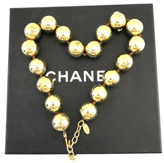 Chanel #13848 Rare CC Bead gold Ball chain Choker necklace Image 1