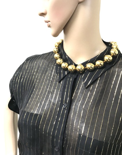 Chanel #13848 Rare CC Bead gold Ball chain Choker necklace Image 2