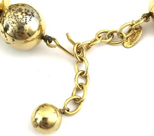 Chanel #13848 Rare CC Bead gold Ball chain Choker necklace Image 4