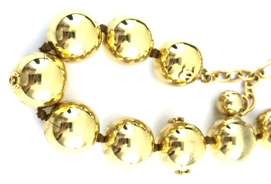 Chanel #13848 Rare CC Bead gold Ball chain Choker necklace Image 5