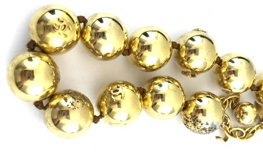 Chanel #13848 Rare CC Bead gold Ball chain Choker necklace Image 6