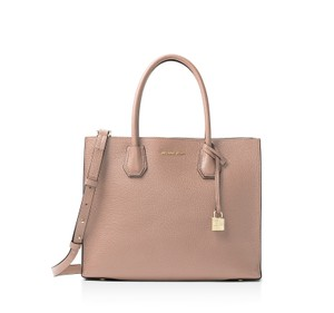 Michael Kors Mercer Leather Tote in Fawn