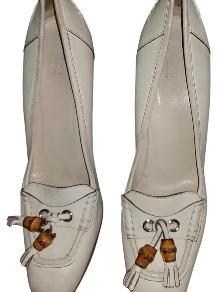 0f2a04150922a Gucci Leather Tassel Bamboo Loafer Pumps Size US 10 Regular (M