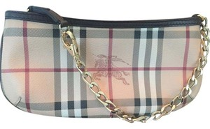 Burberry Gold Short Chain Small Chain Beige brown Clutch