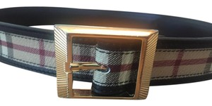 Burberry Tan Haymarket check Burberry waist belt
